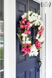 tulip wreath diy tulip wreath pink white on sutton place