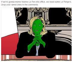 4chan Meme - pepe le pen can the alt right really meme marine le pen to victory
