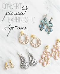 how to convert clip on earrings to pierced how to make clip on earrings from pierced earrings so inexpensive