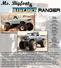 original bigfoot monster truck ms bigfoot bigfoot ranger bigfoot 4 4 inc u2013 monster truck