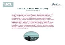 ppt canonical circuits for predictive coding karl friston