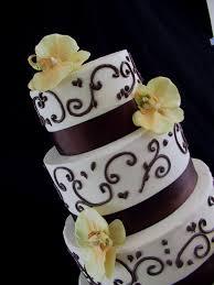 wedding cake u2013 chocolate brown and ivory autumn acres of land