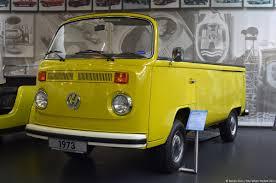 yellow volkswagen convertible volkswagen museum wolfsburg bus convertible ran when parked