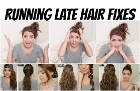 running late hair fixes no heat 8 styles youtube