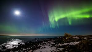 when are the northern lights visible in iceland aurora borealis seen off the rugged coast of reykjanes iceland