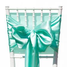 mint chair sashes satin wedding chair sashes mint green