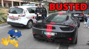 police ferrari ferrari 458 italia by prior design busted by the police in monaco