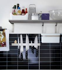 Knife Storage Ideas by Cabinets U0026 Storages Modern Aluminium Magnetic Knife Rack Built In
