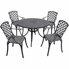 crosley sedona 48 in 5 piece cast aluminum outdoor dining set