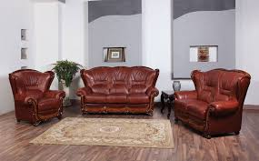 Genuine Leather Living Room Sets Classic Sofa 110 Traditional Sofas