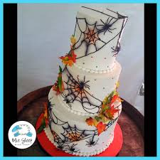 halloween wedding cake blue sheep bake shop