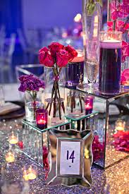 silver frames for wedding table numbers purple pink flowers on mirror boxes with mirror frame table number