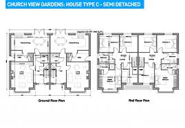 Semi Detached Floor Plans   semi detached house plans design decoration philippines modern