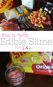 edible photo edible slime recipe slime you can eat shesaved