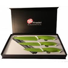 couteaux de cuisine pradel a couteaux 3 luxe vert ustensile de cuisine pradel excellence