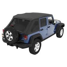 black jeep wrangler unlimited bestop trektop nx black diamond complete replacement soft top