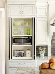 kitchen microwave ideas microwave cabinet transitional kitchen bhg