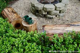 Fire Pit Logs by Outdoor Fire Pit Log Seating Mother Daughter Projects