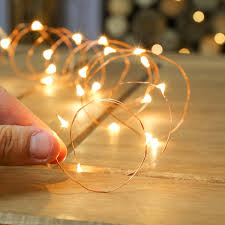 20 warm white indoor battery copper wire lights