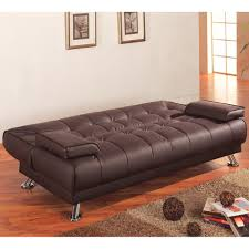 tufted faux leather sofa contrast piping tufted faux leather futon sofa bed sofa leather