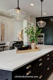 white kitchen cabinets and black quartz countertops black custom cabinets contrast with the white quartz