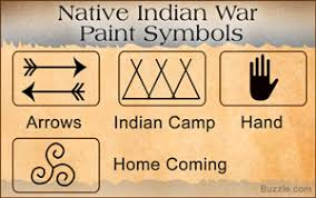 native indian war paint symbols and their meanings just wow