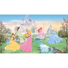 disney dancing princess xl wall mural awesome beds 4 kids featuring cinderella ariel belle aurora and tiana a disney princess fan