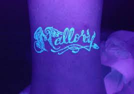 uv glow in the name tattoos