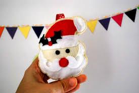 santa christmas ornament sewing kit felt hand sewing kit