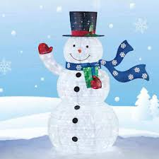 72 pop up collapsible snowman 294 led lights indoor
