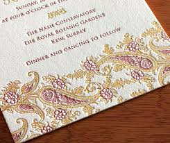 indian wedding cards chicago indian wedding card colors gold letterpress wedding