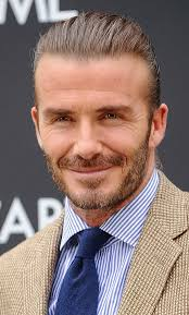 hair and beard styles david beckham medium slicked back hairstyle