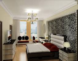 apartment classical black one bedroom apartment bed design