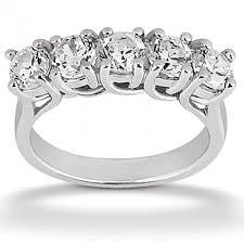 womens diamond wedding bands 5 prong set womens diamond wedding band 75 total carat