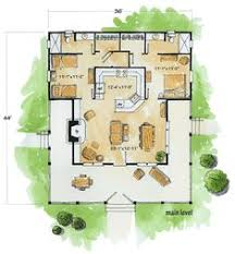 plan 92318mx 3 bedroom dog trot house plan porches screened in