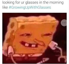 spongebob sunglasses meme r re glasses in spanish dictionary