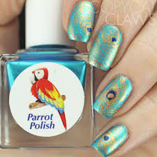 copycat claws uberchic beauty fabulous feathers stamping plate