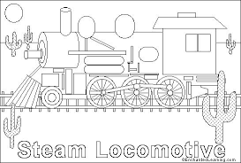 Steam Locomotive Coloring Pages Train Engine Online Coloring Page Enchantedlearning Com by Steam Locomotive Coloring Pages