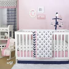 Anchor Bedding Set Anchor Nautical 4 Baby Crib Bedding Set In Pink