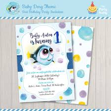 baby dory first birthday invitation finding dory under the
