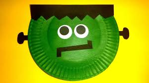 paper plate frankenstein halloween craft for kids paper plate