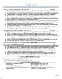 Management Resume Example by General Manager Resume Example Sports Club Management