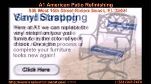 Repair Webbing On Patio Chair Patio Furniture Repair West Palm Beach Youtube