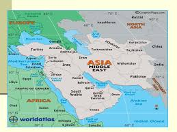 middle east map india the post war world part ii the middle east and india ppt
