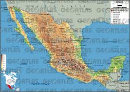 map of the mexico geoatlas countries mexico map city illustrator fully