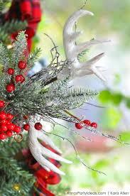 kara u0027s party ideas rustic plaid farmhouse cabin christmas tree