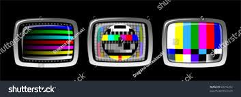 tv color test pattern test card stock vector 69416452 shutterstock