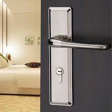 Door Handles For Bedrooms 2017 The Modern European Style Double Tongue Bedroom Door Lock