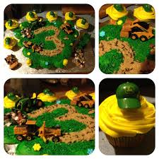 grave digger monster truck cake john deere tractor cupcake cake cakes made by me pinterest
