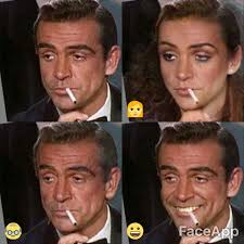 Sean Connery Mustache Meme - sean connery as james bond faceapp know your meme